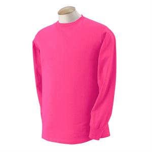 Cyber Pink - 4930 Fruit of the Loom Color Long Sleeve T-Shirts